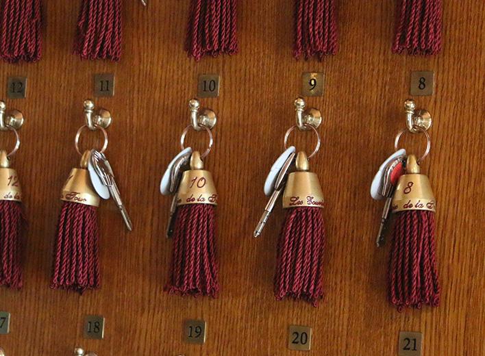 Tableau de clefs de chambres